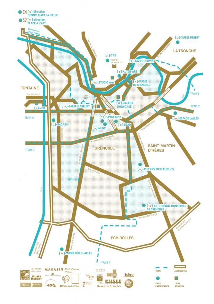 Carte des lieux participants aux JAC 2014