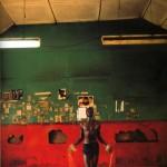 """© Philippe Bordas, """"Les boxeurs du Kenya"""", 1988 Mathare Valley, Nairobi, photographie couleur Collection Musée Géo-Charles"""