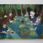 """Severine Gorlier, """"Picnic spot II"""", peinture acrylique sur toile, 60 x 80 cm"""